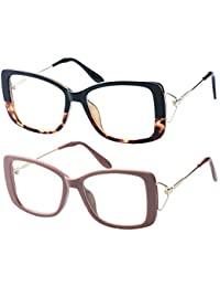 Ladies Lightweight Large Frame Eyeglass Fashion Reading...