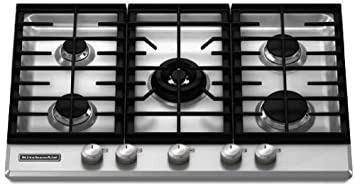 30 gas cooktop. KitchenAid Architect Series II : KFGS306VSS 30 Gas Cooktop With 5 Sealed Burners - Stainless Steel