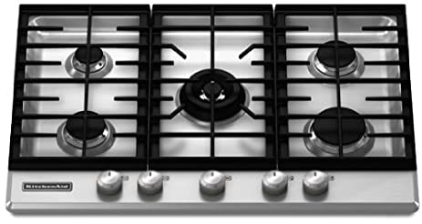 KitchenAid Architect Series II : KFGS306VSS 30 Gas Cooktop With 5 Sealed  Burners   Stainless Steel