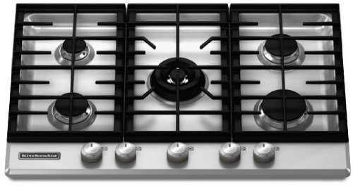 Amazon.com: KitchenAid Architect Series II : KFGS306VSS 30 Gas Cooktop With  5 Sealed Burners   Stainless Steel: Kitchen U0026 Dining