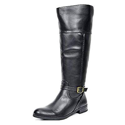 TOETOS Women's Knee High Winter Riding Wide Calf Boots