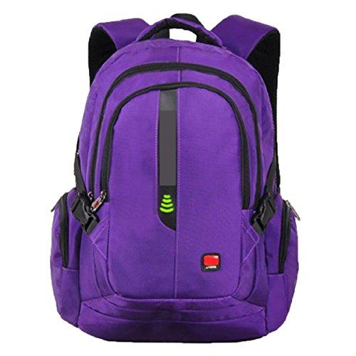 Paquete De Viaje De Ocio De La Mochila Para Hombres Bolsa De Viaje De Ocio De Gran Capacidad Purple