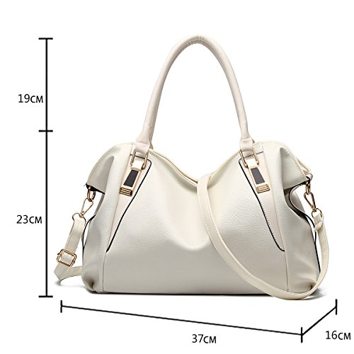 Fashion Bag Messenger New Leather Handbag Ladies Women's Tisdaini Bag White Shoulder Messenger Soft 2018 nZxU5wz