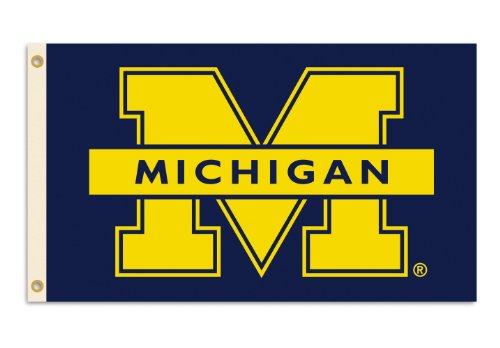 NCAA Michigan Wolverines 3-by-5 Foot Flag M Logo with Grommets