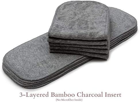 Reusable Washable  For Real  Diaper Cover Wrap Microfibre Bamboo Charcoal UQ