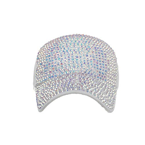 (YEZIJIN Men Women Baseball Caps Fashion Adjustable Cotton Cap Star Rhinestone Cap 2019 Best Outdoor Sun Visor Hat)