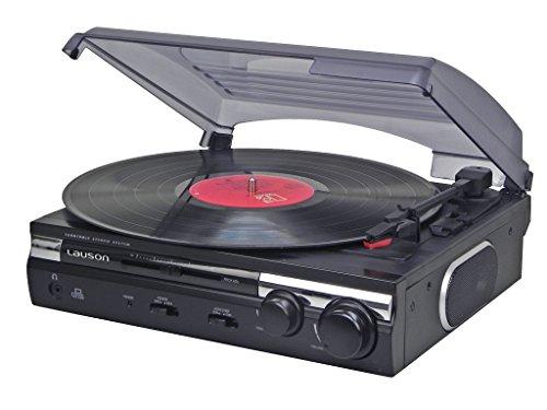 Giradischi-Lauson-CL-145-Funzioni-di-Codifica-Stereo-2-velocit-3345-RPM-con-altoparlanti-integrati-vinile-in-MP3