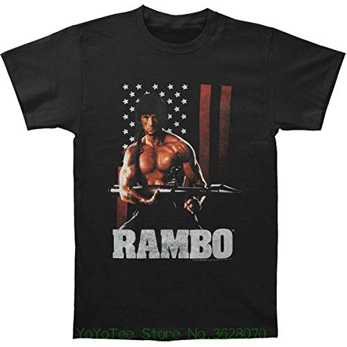 Rambo Shirt Cotton Collection 2 for Men Women T First Last Blood Tshirt Clothing Collectibles Gifts Black