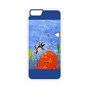 iPhone 6 Plus 5.5 Inch Cell Phone Case White Childhood Imagination 1 Ormxc