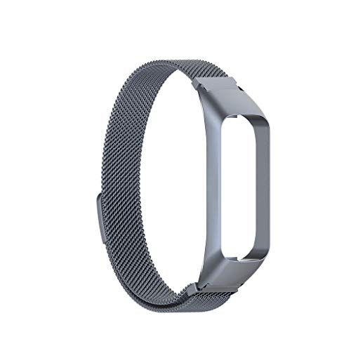 Gleders Compatible for Samsung Galaxy fit-e SM-R375 Watch Smart Watch Band Wrist Strap Bracelet Milanese Stainless Steel Frame + Milan Wristband Strap Replacement (C)