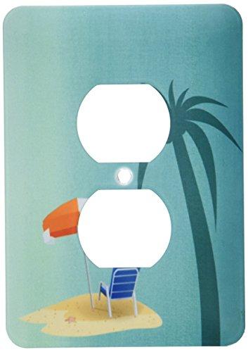 3d Rose 3dRose lsp_212860_6 Print of Palm Tree Beach Chai...