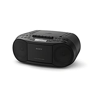Sony CFDS70BLK CD/Cassette Boombox Home Audio Radio, Black