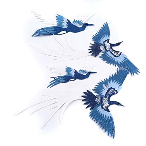 - Yunzee Embroidery Cloth Stickers Phoenix Bird Pattern Clothing Accessories Patch Flying Shape Jacket Shirt Patches,Set,11.228.86inch