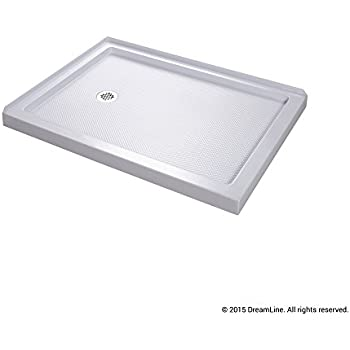 Superieur DreamLine SlimLine 34 In. X 48 In. Double Threshold Shower Base, Left Hand