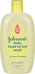 Johnson\'s Baby Head-to-Toe Wash, 15 Ounce (Pack of 2)