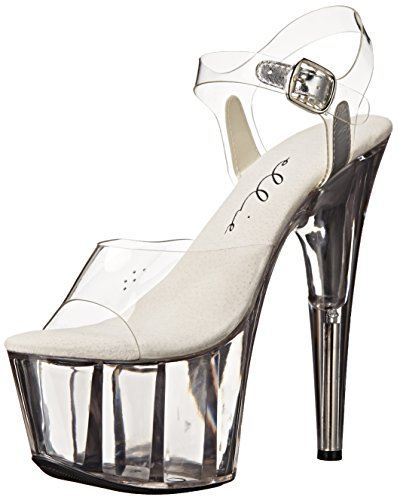 Ellie Shoes Women's 709-brook, Clear, 7 M - Heel 6.75 High Inch