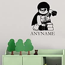 Personalized Custom Name Superhero Wall Decals Lego Robin Vinyl Decor Stickers MK1647
