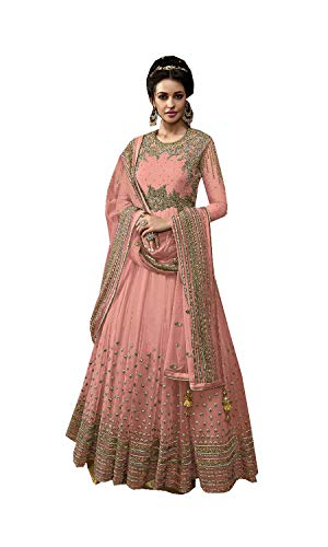 ziya Indian/Pakistani Collection Heavy Designer Anarkali Latest Salwar Kameez 15004 (Pink, XS-36)