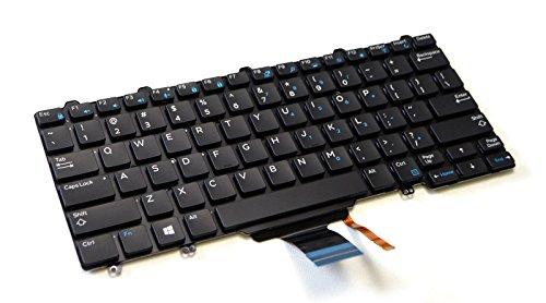 Dell 3P2DR XPS 12 (9250) Latitude 12 (7275) E7270 E5270 US English Backlit Laptop Replacement Keyboard PK131O1B00 NSK-LMABC 01 LMALN 82 Black M15ISU-TB LMA-US D02