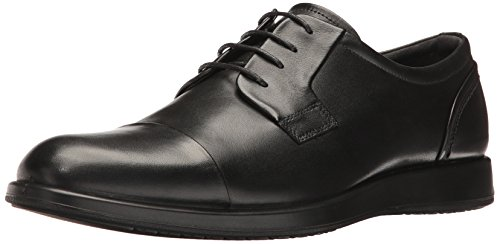 ECCO Men's Jared Cap Toe Tie Oxford, Black, 43 EU/9-9.5 M (Ecco Cap Toe Cap)