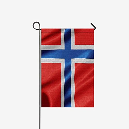 - Starowas Garden Flags Waving Norway Flag House Banner 12x18inch, Decorative Flag Party Yard Home Outdoor Decor, 100% Polyester
