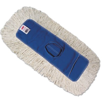 Rubbermaid Commercial Products FGK15300BL00 Kut-A-Way Dust Mop, 24'', Blue (Pack of 12)