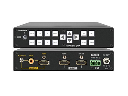 Shinybow 2x1 (2:1) HDMI with Digital/Analog Audio PIP/POP Video Selector Switcher 1080p Scaler SB-3691 by ShinybowUSA