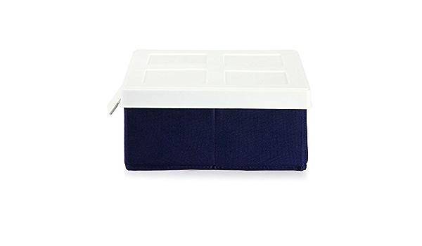 Caja de almacenaje debajo de la cama Stosto 40 x 50 x 28 cm caja organizador + PPE-bolsa: Amazon.es: Hogar