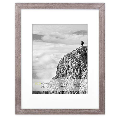 11x14 Picture Frame - Matted for 8x10 Photo, Brown Frames by ()