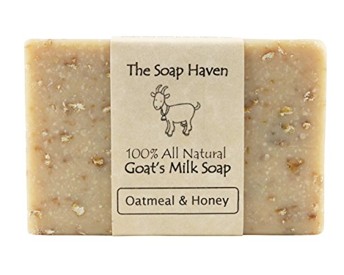 Oatmeal Soap - 4 Oatmeal & Honey, Goat Milk Soap Bars. All Natural, Unscented Soap - Wonderful for Eczema, Psoriasis, sensitive skin and all skin types. SLS Free, NO Parabens. Handmade in USA.