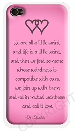 Dr Seuss Weirdness Love Quote Iphone 6 Case Pink Iphone 6 Cover