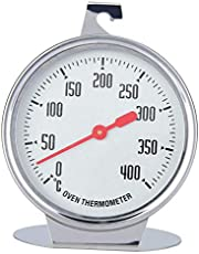 Dial Oven Thermometer with Extra Large Hanger & Base Plate - Safety Leave-in Oven,Easy to Read Large Scale Number, No Fading Color for Long time Cooking in Oven or Grill