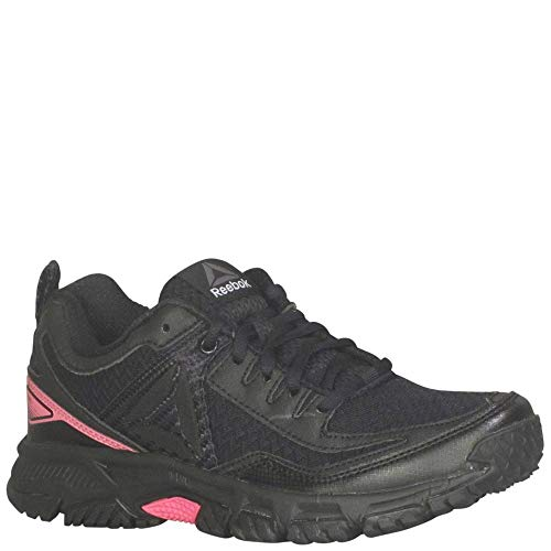 Reebok Women's Ridgerider Trail 2.0 Track Shoe, Black/Solar Pink/Silver/Pewter, 9.5 M US