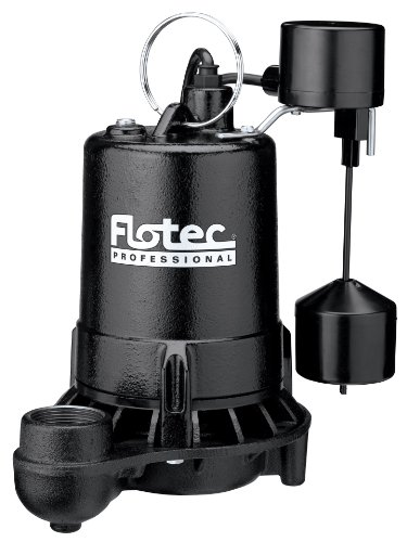 Flotec E75VLT Professional Submersible Sump Pump With Vertical Float Switch, 5280 Gph, 3/4 Hp