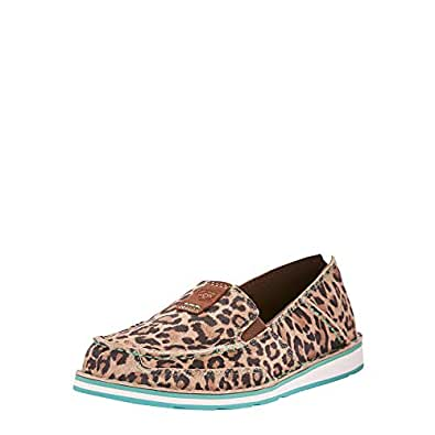 ARIAT Women's Cruiser Moccasin, Cheetah, 5.5 B US