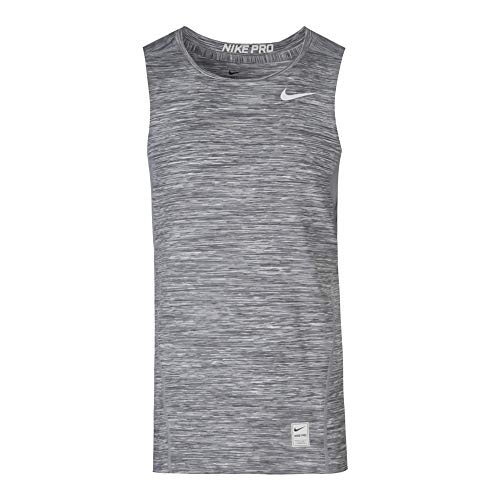 Nike Mens Hypercool Fitted Sleeveless Shirt Wolf Grey/White 811390-100 - Body Nike Sleeveless