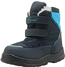 Apakowa 2017 New Kid's Winter Snow Boots (Toddler/Little Kid) (Color : Blue, Size : 10 M US Toddler)