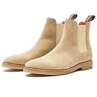 Men's beige Chelsea boots