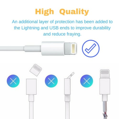 c362bc465ce â–¶ï¸ Cable cargador USB original para iPhone (Apple Certified) 5/ 6 / 6  PLUS/ 7 ...
