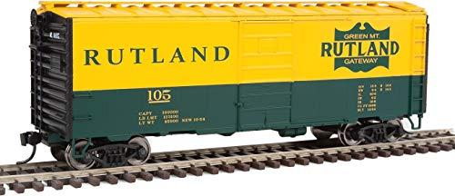 Walthers HO Scale 40' PS-1 Box Car Rutland #105 (Green/Yellow/Green Mt. Gateway)