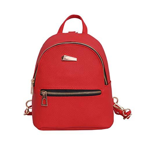 (Outsta Women's Backpack, New Handbag Travel School Rucksack Waterproof for Teenagers Girls Phone Bag Holders Classic Casual Daypack (Red))