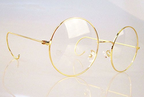 91069637e17 Agstum Retro Round Optical Rare Wire Rim Eyeglass Frame 49mm (Large size)