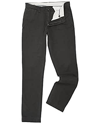 Polo Ralph Lauren Mens Bedford Slim Fit Faded Chino Pants Black 32/30