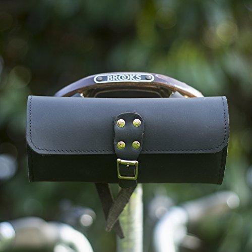 Satteltasche aus echtem Leder, schwarz gut für Brooks Sattel