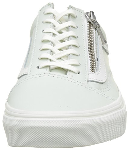 Basses Zip Leather Old Blanc Femme Baskets Skool Zephyr Bleu de Blue UA Vans Blanc RXtwSS