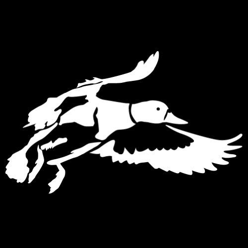 Landing Zone Duck Wall Decal (White - Reverse Facing - Large) - Waterfowl (Large Landing Duck)