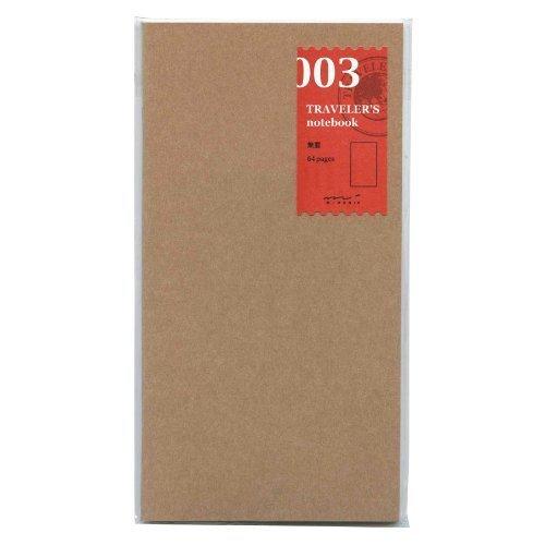 Midori Traveler's Notebook (refill 003) blank (Notebook Refill)