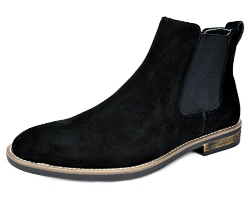 Bruno Marc Men's Urban-06 Black Suede Leather Chukka Ankle Boots - 9.5 M - By Boots Marc Marc