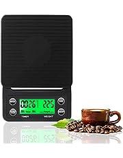 ميزان قهوة Zhg مع مؤقت ومقياس طعام للمطبخ عالي الدقة مع وظيفة الفارغ