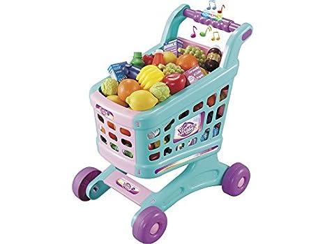 IMITOYS Carrito Supermercado Verde Música y Sonidos 19 Piezas 50x36x28cm: Amazon.es: Juguetes y juegos
